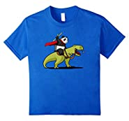 Panda Riding A T-Rex Dinosaur Funny T-Shirt