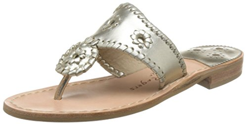 Platinum Plus Chesapeake Bay - Jack Rogers Women's Hamptons Sandal, Platinum, 8 M US