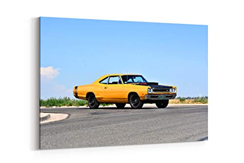 1969 Dodge Super Bee Hemi Muscle Old Classic Original USA 12 - Canvas Wall Art Gallery Wrapped 26