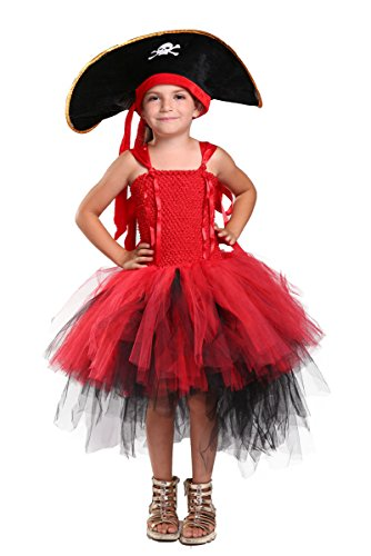 [Tutu Dreams Halloween Costumes for Girls (6, Pirate)] (Cute Girls Pirate Costumes)
