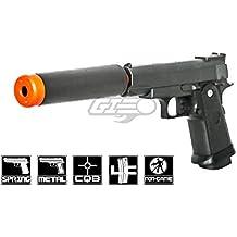UK Arms G10A Mini M1911 Hi Capa 4.3 Metal Spring Airsoft Pistol – Metal Spring Airsoft Gun for Beginners (Black)