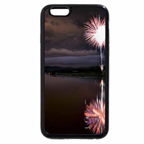 iPhone 6S / iPhone 6 Case (Black) Fireworks Over the Lake