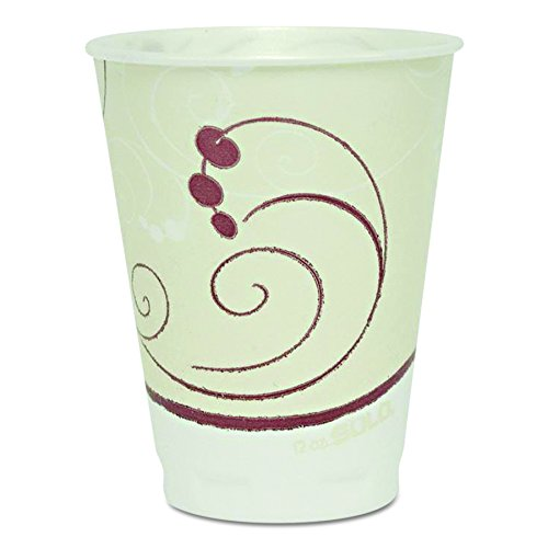 SOLO OFX12N-J8002 Trophy Plus Polystyrene Foam Hot and Cold Cup, 12 oz. Capacity, Symphony (Case of 300)