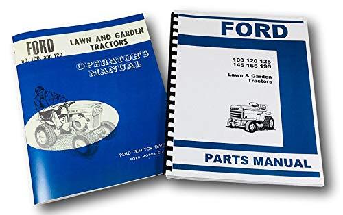 Ford 100 120 Lawn Garden Tractor Operators Parts Manual Catalog