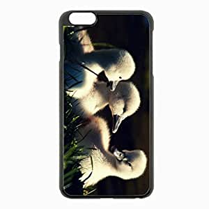iPhone 6 Plus Black Hardshell Case 5.5inch - ducks grass young Desin Images Protector Back Cover