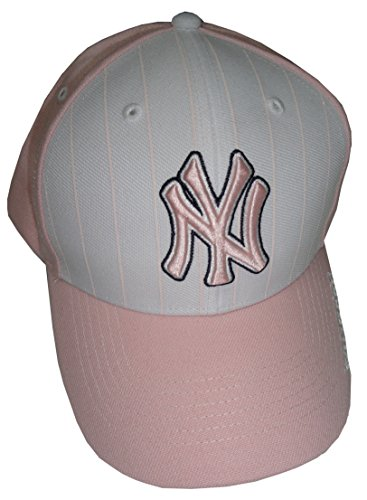 Yankees Pinstripe Hat - Forty Seven Womens Brand Yankees Hat Ball Cap Pink and White with Pinstripes