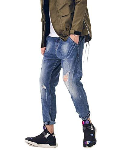 De De Blau4 Mezclilla Vintage De Mezclilla Pantalones Destruidos Los De Moda De Pantalones Hombres Mezclilla Ocio Pantalones Clásico De Chicos De Los Pantalones Hombres Grandes Pantalones Ox0w4