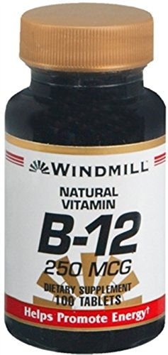 (Windmill Vitamin B-12 250 mcg Tablets 100 Tablets (Pack of 2))