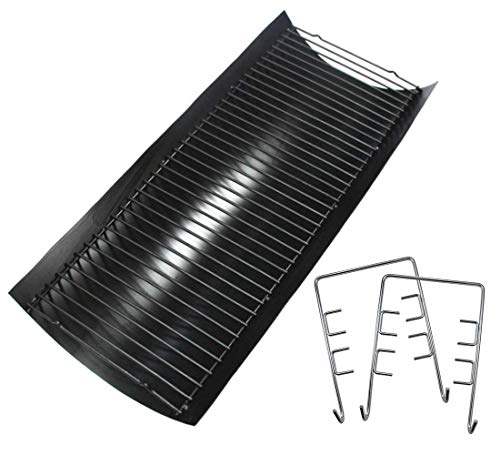 Hongso APC508 27 9/16 Inches Steel Ash Pan with Wire Grate for Char Griller 2121, 2222, 2828 Gas - Grate Coal Gas