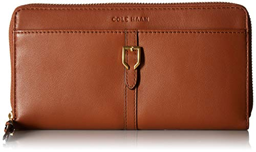 tinental Zip Around Leather Wallet, Collection Brown ()