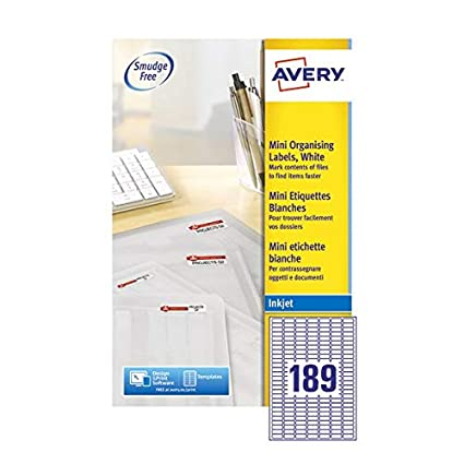 Avery Mini Inkjet Labels - Etiquetas de impresora (Color ...