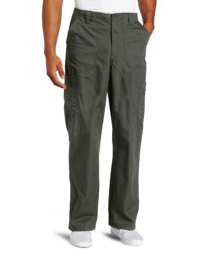 Mens Utility Scrub - Carhartt Men's Ripstop Multi-Cargo Scrub Pant, Olive, Medium