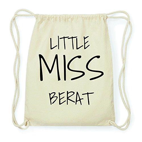 JOllify BERAT Hipster Turnbeutel Tasche Rucksack aus Baumwolle - Farbe: natur Design: Little Miss