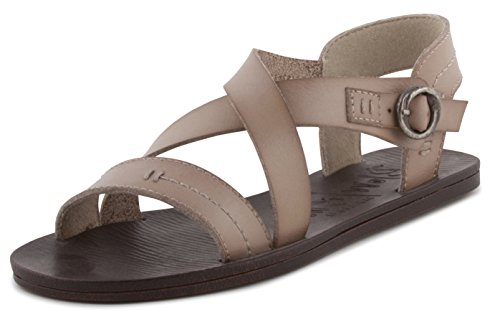 Blowfish Blow Fish Womens Drum Flat Sandal Birch Dyecut PU Size 7.5