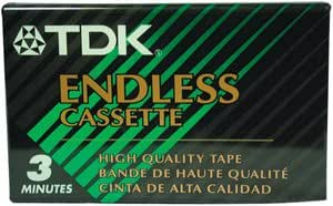 TDK EC3M Endless Loop Cassette Tape (3 min) (Discontinued by Manufacturer)