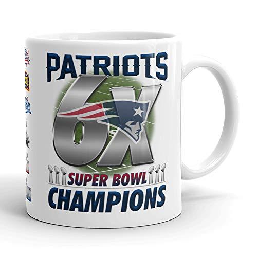 (New England Patriots 6X Super Bowl Champions 53 LIII 2019 Tom Brady Coffee Mug (11oz))