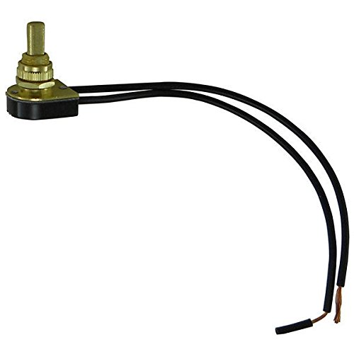 Push Canopy (Push Button - On/Off Canopy Switch - Polished Brass - 6 Amp - 125 Volt - PLT 55-0304-10)