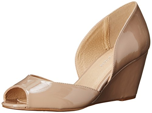 CL by Chinese Laundry Women's Nicole Wedge Pump, New Nude Patent,  8 M US Nicole Shoes Com