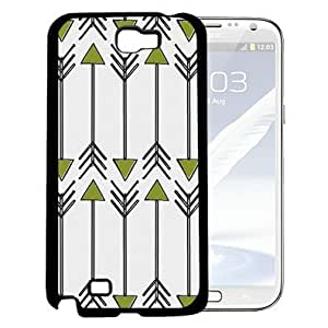 Green and Gray Arrow Pattern with White Background Hard Snap on Cell Phone Case Cover Samsung Galaxy Note 2 N7100