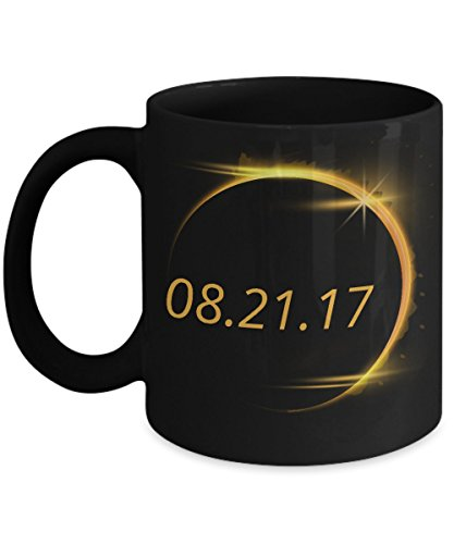 Total Solar Eclipse Mug   2017 Sun Moon Astronomy Design USA Novelty Gift Coffee Tea Mug Ceramic Black 11oz