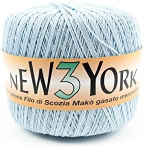 telaiando, 150 gr ovillo 100% algodón hilo de Escocia Mako gasato mercerizzato. Lote de 4 ovillos: Amazon.es: Hogar