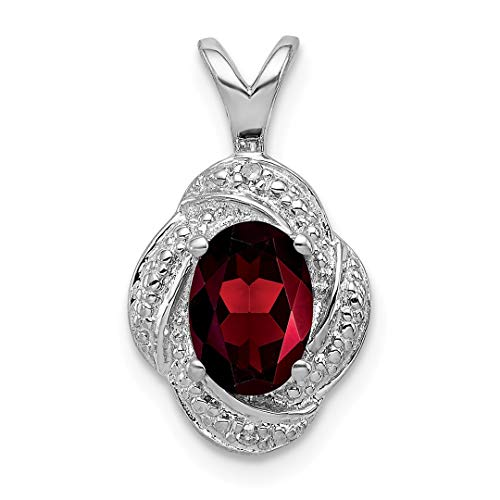 925 Sterling Silver Diamond Red Garnet Pendant Charm Necklace Birthstone January Set Fine Jewelry For Women Gift Set