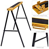 Goplus 2-Pack Sawhorse Pair Folding Metal