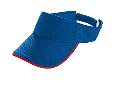 Augusta Sportswear KIDS' ATHLETIC MESH TWO-COLOR VISOR OS Royal/Red
