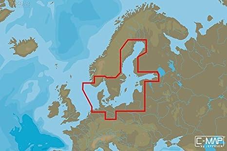 C-MAP MAX de N Wide – Baltic Sea and Denmark – μsd/Tarjeta SD ...