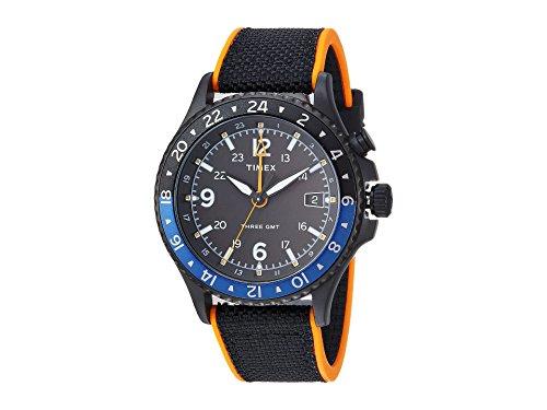 (Timex Men's Allied Three GMT Black/Orange One Size)