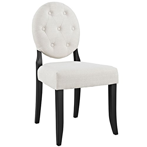 Modway Button Dining Side Chair, Beige by Modway