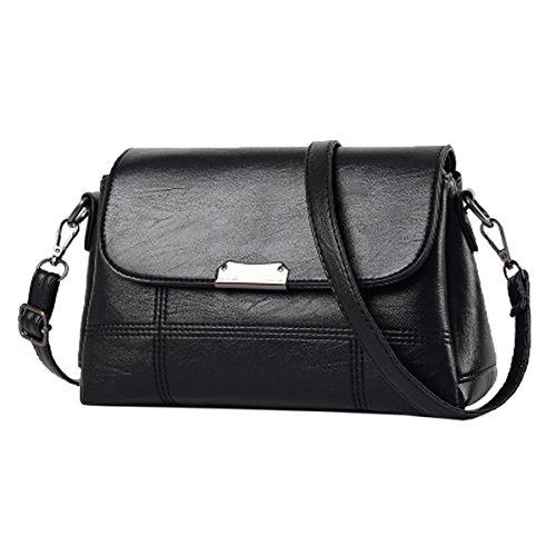 Sac Black Main Cuir Satchel Casual à Tote Zipper Bag Mini à Sac Crossbody Lady Lattice Pu Pu Femmes Mode Bandoulière Multicolore Rfq71w