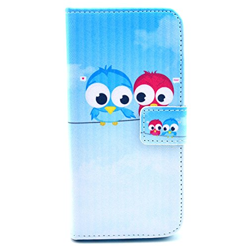 4.7 inch Iphone 6, IVY - Cute Owls Graphic, Cute Fashion Magnetic Snap Wallet Card Flip TPU Leather With Stand Cover Case For Apple Iphone 6 4.7-inch