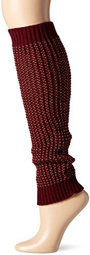 Steve Madden Women's Textured Leg Warmer, Eggplant, 1-Size