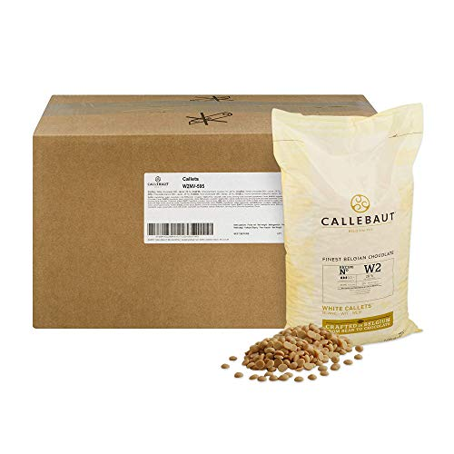 Callebaut Belgian White Baking Chocolate Callets - 29.5% Cocoa Butter, 0% Fat Free Cocoa, 6.3% Milk Fat, 16.7% Fat Free Milk - Good For Cakes, Mousse, Truffle, Fillings & Dipping - 22 Lbs by Callebaut (Image #8)