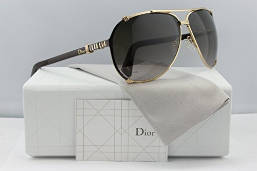 Christian Dior Chicago 2/Strass/S Sunglasses Rose Gold w/Brown Gradient (0UPX) UPX HA 63mm Authentic