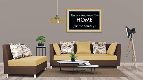 Adorn India Exclusive Two Tone Alica Modular Sofa Set (Brown & Beige)