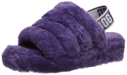 UGG Women's Fluff Yeah Slide Wedge Sandal, Violet Bloom, for sale  Delivered anywhere in USA