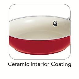 Tramontina 80110/056DS Gourmet Ceramica 01 Deluxe Fry Pan, 8-Inch, Metallic Red