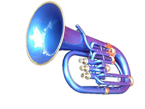 Queen Brass Euphonium Bb Pitch W-Case & Mp Brass Made Blue by Queen Brass