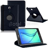 Capa Case Couro Samsung Galaxy Tab A 9.7 T550 T555 Giratoria - Preta