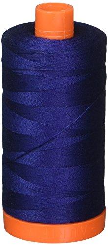 (Aurifil Mako Cotton Thread Solid 50wt 1422yds Dark Navy)