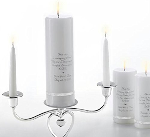 SKB family Anniversary Deluxe Unity Candle Set with Heart Stand Deluxe