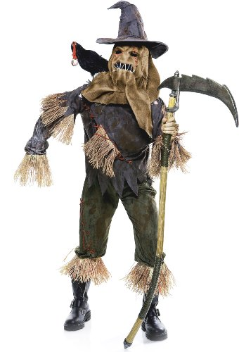 Paper Magic Group Skarecrow Costume, Brown, Large (Paper Magic Group Costumes)
