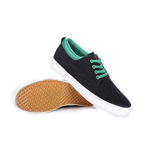 Scarpe Da Uomo Con Risvolto Sneakers Basse Con Zeppa In Pelle Rismart Da Uomo Nero 9953 Us9