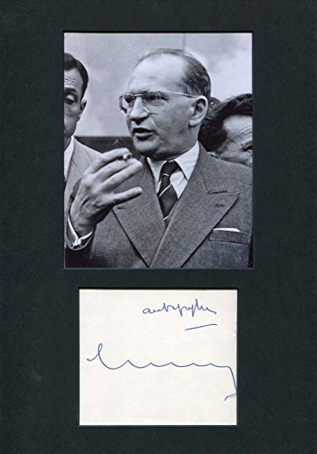 french-politician-edgar-faure-autograph-signed-album-page-mounted