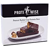 ProtiWise - Peanut Butter Cup High Protein Diet Bars   Low Calorie, Low Fat, Low Sugar (7/Box)