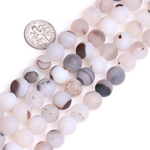10mm Natural Semi Precious Round Frost Botswana Agate Gemstone Beads for Jewelry Making Strand 15