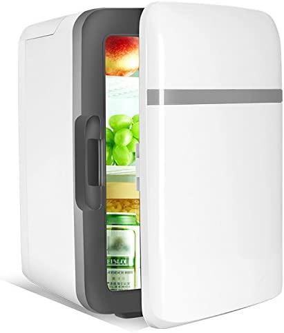 Car 4L Car Household Refrigerator Dual-Use Dormitory Bedroom Cooling Mini Refrigerator Small Household Chilled Fridge,Blue