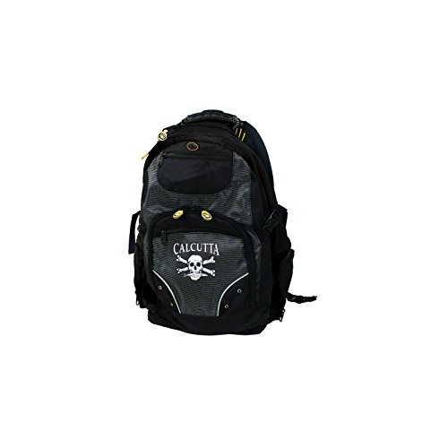 Calcutta Black Deluxe Travel Backpack with Laptop and Tackle Storage by Calcutta